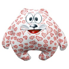 Подушка-игрушка Котик Влюбленное сердце