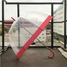 Прозрачный зонт Красный купол