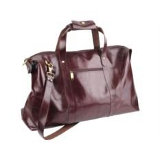 Коричневая дорожная сумка First class с карманом
