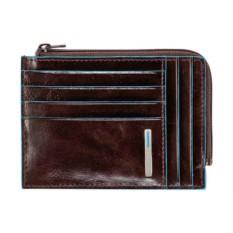 Коричневый чехол для кредитных карт Piquadro Blue Square