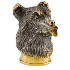 Стопка-перевертыш из серебра с золочением Медведь