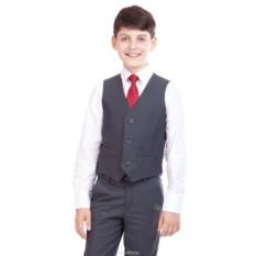 Классический темно-серый жилет для мальчика Gulliver