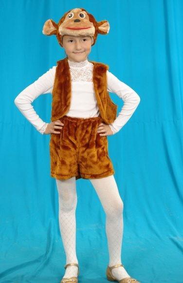 Карнавальный костюм Обезьяна (головной убор, жилет, шорты)