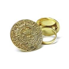 Позолоченное кольцо Календарь (27 мм)