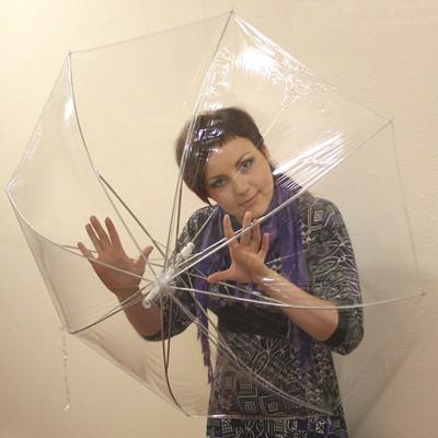 Зонт прозрачный «Тюльпан»