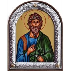 Маленькая икона в серебряной раме Андрей Первозванный