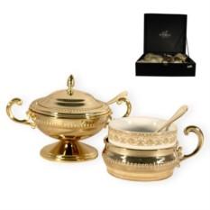 Чайный сервиз Царский выбор, золото, на 6 персон