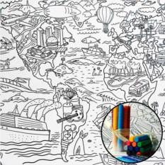 Плакат-раскраска Карта мира