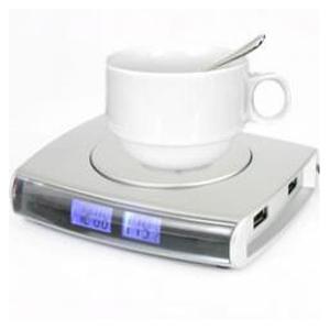 USB-хаб — нагреватель, чашка, ложка