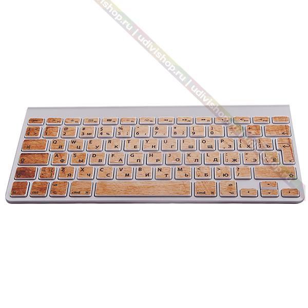 Наклейки на клавиатуру Wood