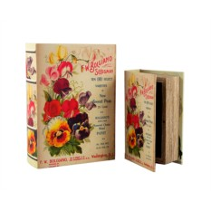 Набор из двух шкатулок-фолиантов Летние цветы