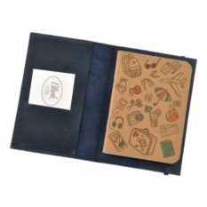 Кожаная обложка на паспорт Blanknote 1.0 Ночное небо