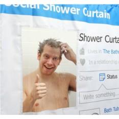 Шторка для ванной Социальная сеть