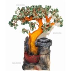 Настольный фонтан Нефритовое дерево (35 см, подсветка)