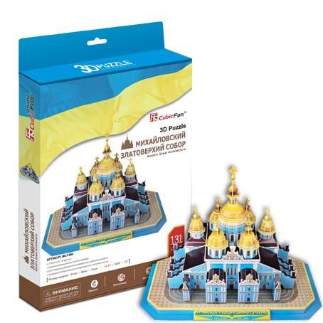 3D пазл Михайловский златоверхий собор (Украина)