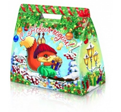 Сладкий новогодний подарок Белочка с орешками