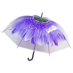 Женский зонт-купол Цветок фиолетового цвета