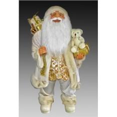 Фигура Санта в белом костюме, расшитом золотом