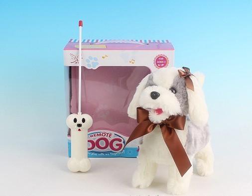 Радиоуправляемая плюшевая собака Болонка