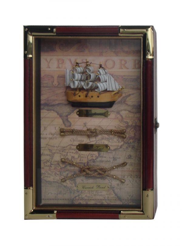 Ключница Морские узлы и корабль