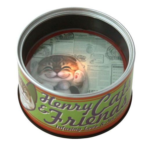 Лампа-ночник в виде консервной банки Кошка Белла