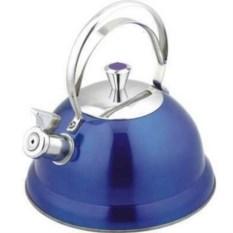 Чайник со свистком Bekker De Luxe (цвет: синий, 2,6 л)