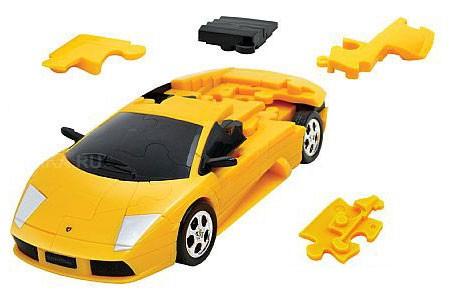 3Д пазл Ламборджини (желтый, разобранный)