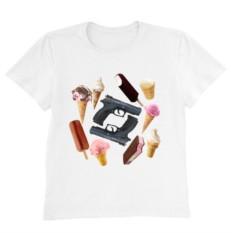 Женская футболка GUNS'N'ICE CREAM