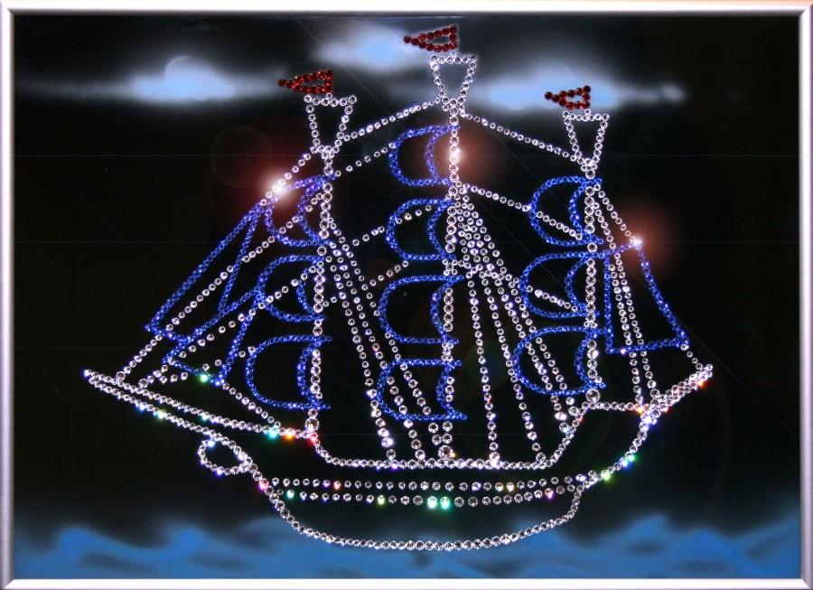 Картина с кристаллами Сваровски По волнам