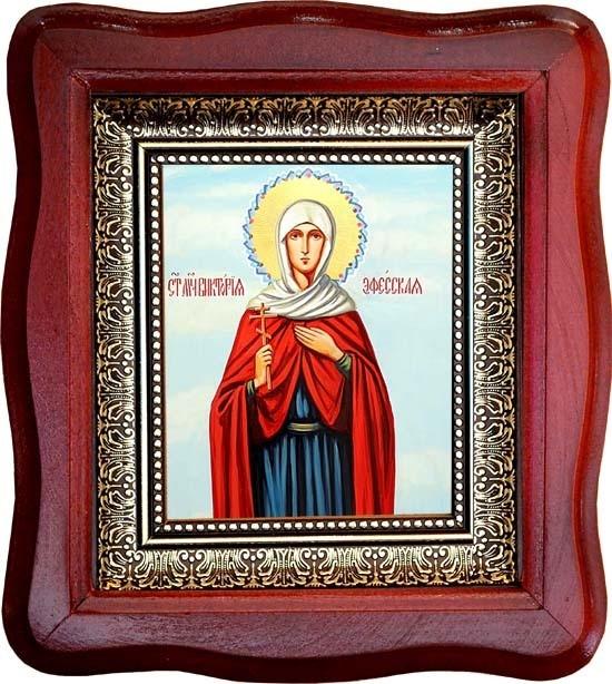 Икона на холсте Виктория Эфесская  Святая мученица