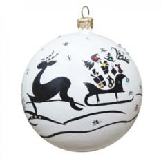 Новогодний шарик с кристаллами Сваровски №1
