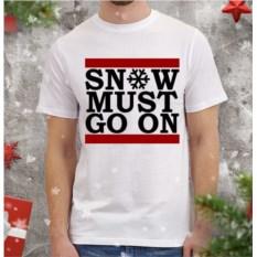 Мужская футболка Snow must go on
