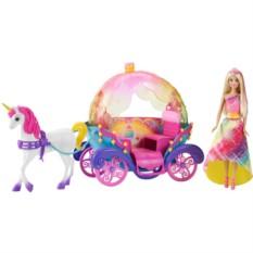 Игровой набор Радужная карета и кукла Барби (Mattel)