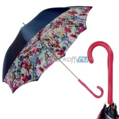 Зонт Трость Pasotti Blu Butterfly Fuxia Original