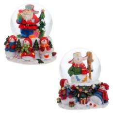 Новогодняя декоративная фигурка в стеклянном шаре