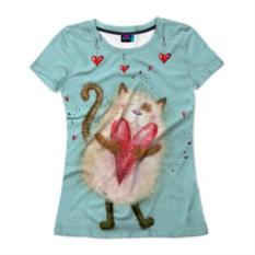 Женская футболка Котик