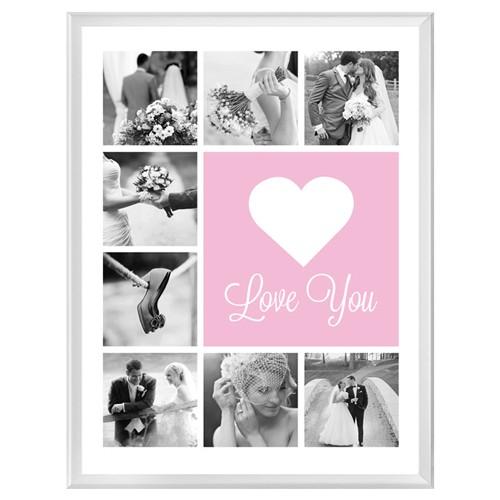 Фотопостер в рамке Love you