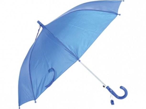 Зонт-трость синего цвета