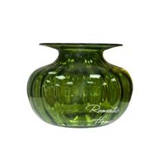 Стеклянная ваза, круглая