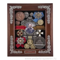 Малая настенная ключница Александр II
