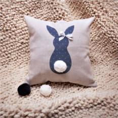 Декоративная льняная подушка Кроль-девочка с хвостом