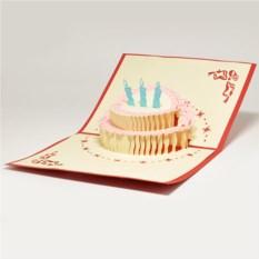 Объемная 3D открытка С днем рождения. Бабочка