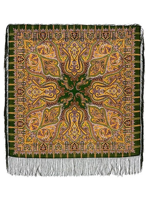 Павлопосадский шерстяной платок Шафран