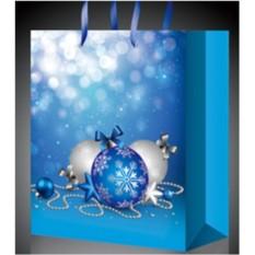 Голубой новогодний пакет