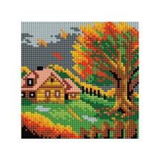 Алмазная вышивка «Осенний домик»