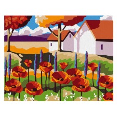 Картины по номерам «Сад с маками»