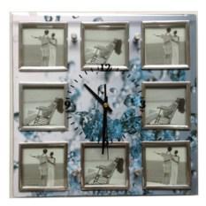 Часы Брызги времени настенные с фоторамками