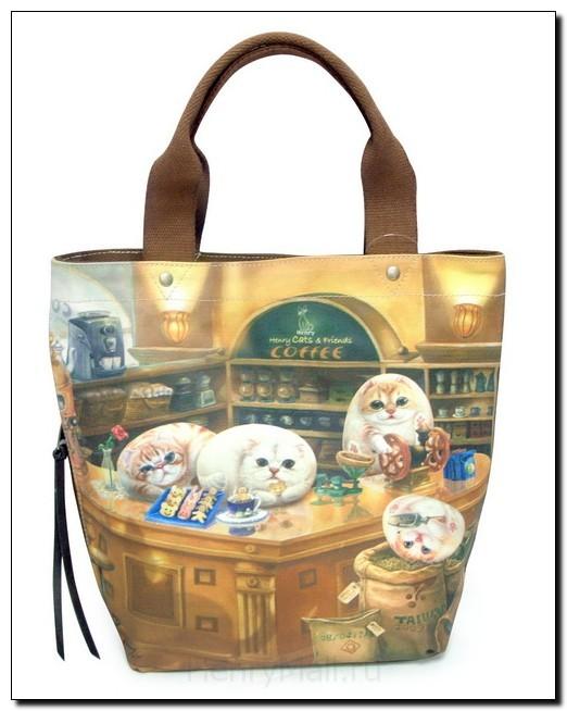 Женская сумка с карманом на молнии S «Кафе Генри»