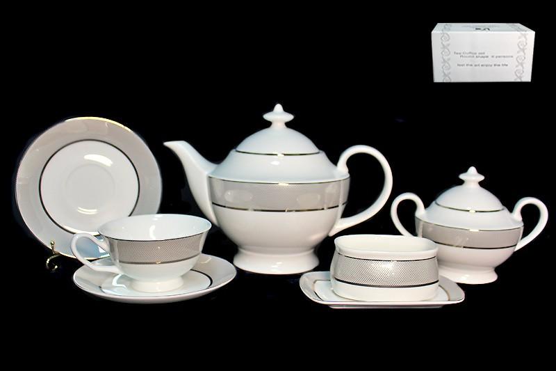 Чайный сервиз Серебряная симфония из 18 предметов