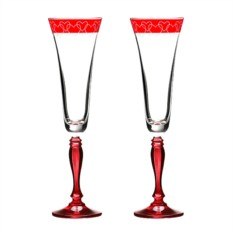 Набор бокалов для шампанского Красная любовь
